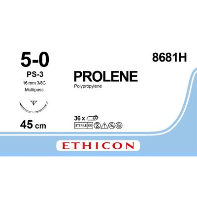 Ethicon Prolene 5-0 PS-3 8681H 45 cm, 36 stk