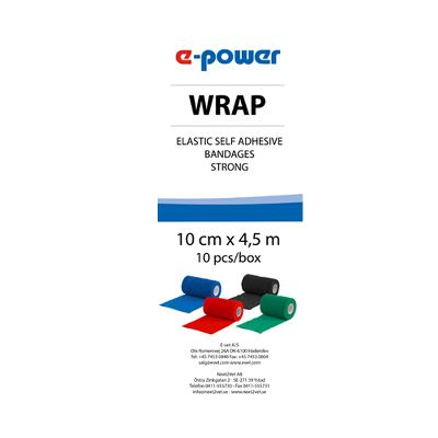 Wrap, e-power, sort 10cm. 1stk