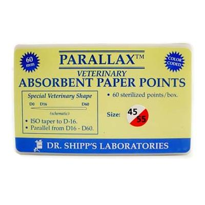 Paperpoint Qualident set 45-50-55, 60 mm lange. 60stk