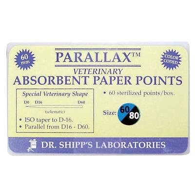 Paperpoint Qualident set 60-70-80, 60 mm lange. 60stk