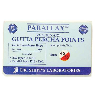 Gutta Percha Point 45-80, 60 mm lange, 120stk