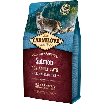 Carnilove Salmon for Adult Cats – Sensitive og Long Hair 2kg