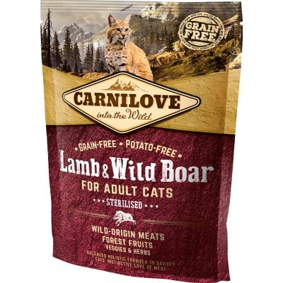 Carnilove Lamb og Wild Boar for Adult Cats – Sterilised 400g