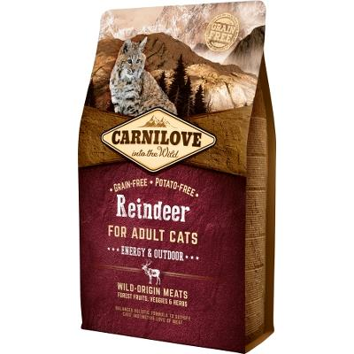 Carnilove Reindeer for Adult Cats – Energy og Outdoor 2 kg