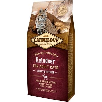 Carnilove Reindeer for Adult Cats – Energy og Outdoor 6 kg