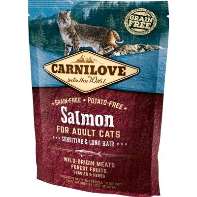 Carnilove Salmon for Adult Cats – Sensitive og Long Hair 400