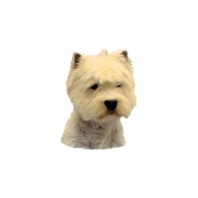 West Highland White Terrier hoved, small (2 stk)