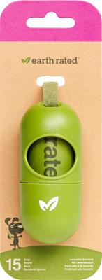Dispenser med 15 Eco-Friendly poser, Lavendel
