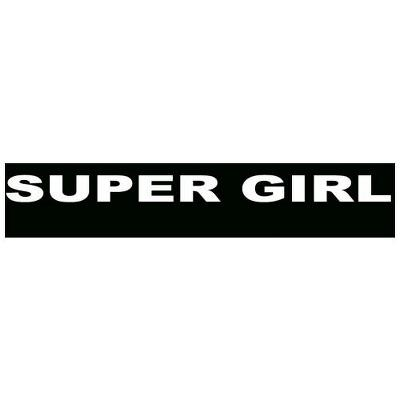 Supergirl, baby, 80x20 mm