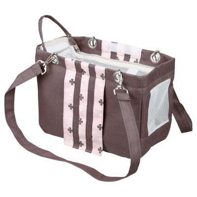 Fina carrier, 14 × 20 × 26 cm, taupe/pink