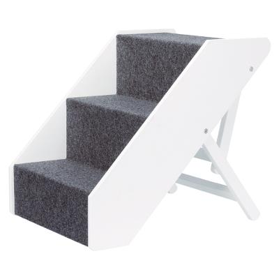 Pet Stairs, height-adjustable, 40 × 67 cm, white