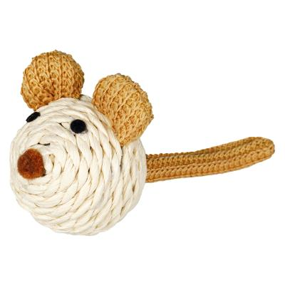 Mouse with rattle, rope, 5 cm